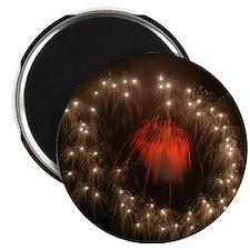 Silver Ring Fireworks Magnet