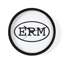 ERM Oval Wall Clock