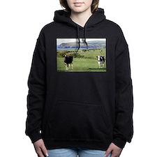 Pembrokeshire cows, Wale Women's Hooded Sweatshirt