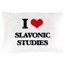 I Love Slavonic Studies Pillow Case