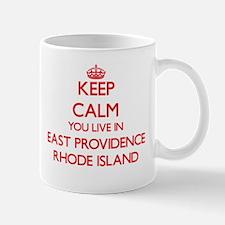 Keep calm you live in East Providence Rhode I Mugs