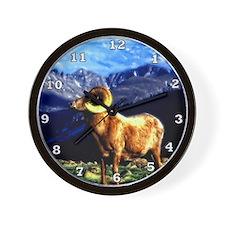 Full Curl Bighorn Wall Clock