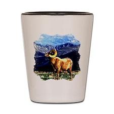 Full Curl Bighorn Shot Glass