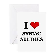 I Love Syriac Studies Greeting Cards