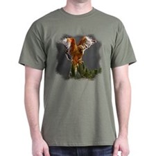 Red Shouldered Hawk Dark T-Shirt