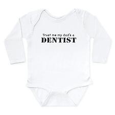 Cute My heart belongs to a dentist Long Sleeve Infant Bodysuit