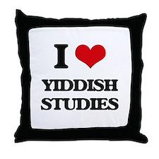 I Love Yiddish Studies Throw Pillow
