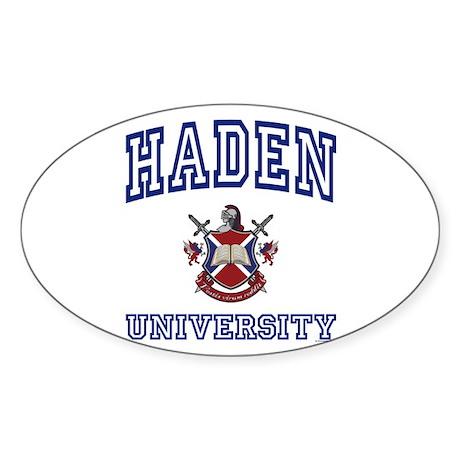 HADEN University Oval Sticker