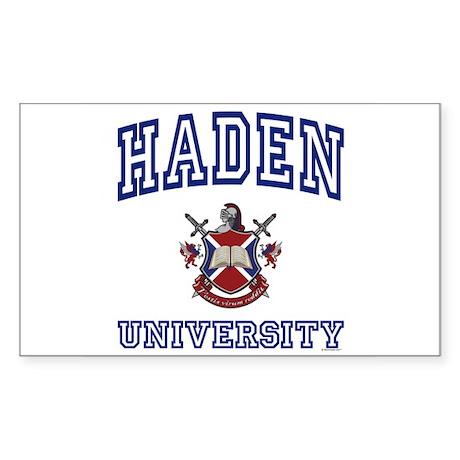 HADEN University Rectangle Sticker