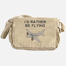 Id Rather Be Flying Messenger Bag
