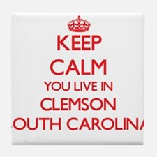 Keep calm you live in Clemson South C Tile Coaster