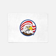 AMERICAN FLAG EAGLE 5'x7'Area Rug