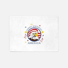 HAPPY BIRTHDAY AMERICA 5'x7'Area Rug