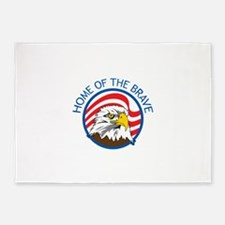 HOME OF THE BRAVE 5'x7'Area Rug