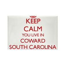 Keep calm you live in Coward South Carolin Magnets