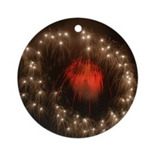 Silver Ring Fireworks Ornament