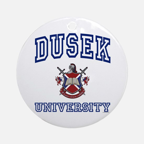 DUSEK University Ornament (Round)