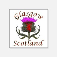 Glasgow Scotland thistle Sticker