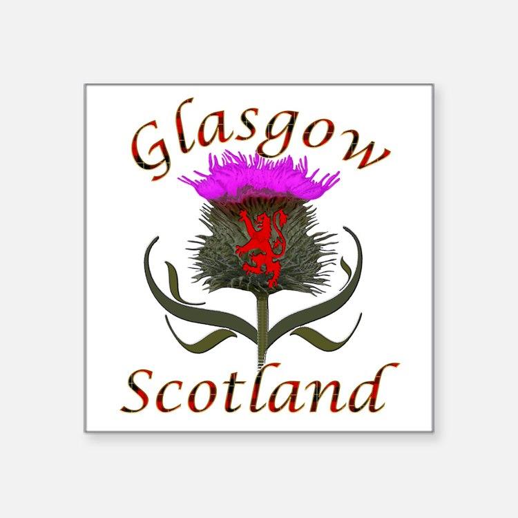 Glasgow Scotland thistle Sticker