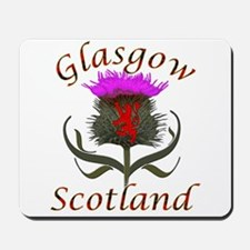 Glasgow Scotland thistle Mousepad