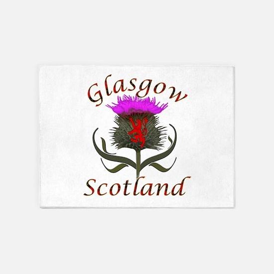 Glasgow Scotland thistle 5'x7'Area Rug