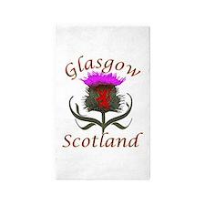 Glasgow Scotland thistle Area Rug