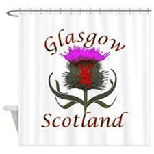 Glasgow Scotland thistle Shower Curtain