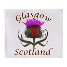 Glasgow Scotland thistle Throw Blanket