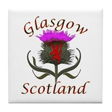 Glasgow Scotland thistle Tile Coaster