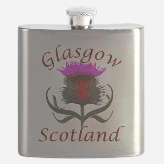 Glasgow Scotland thistle Flask