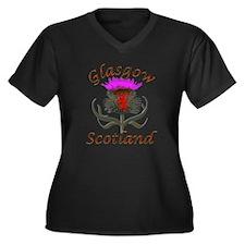 Glasgow Scotland thistle Plus Size T-Shirt