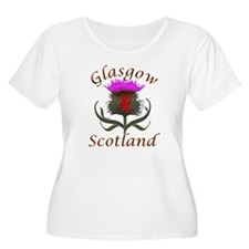 Glasgow Scotland thistle Plus Size T-Shirt