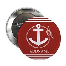 """Brown and White Anchor Pers 2.25"""" Button (10 pack)"""