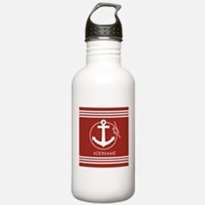 Brown and White Anchor Water Bottle