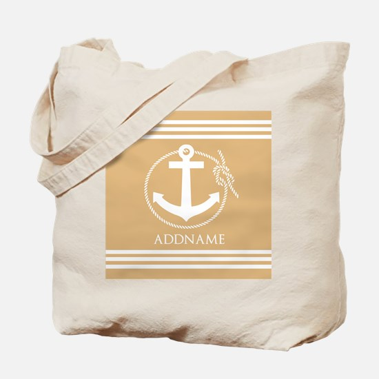 Burly Wood Rope Anchor Personalized Tote Bag