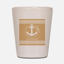 Burly Wood Rope Anchor Personalized Shot Glass