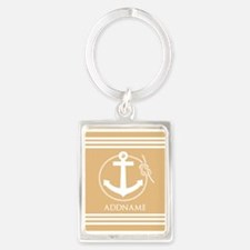 Burly Wood Rope Anchor Personali Portrait Keychain