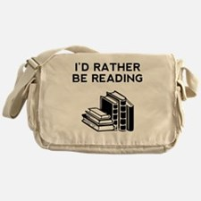 Id Rather Be Reading Messenger Bag