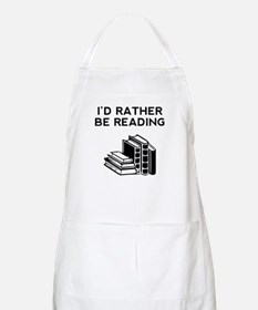 Id Rather Be Reading Apron