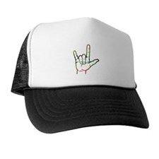 Abstract I Love You Trucker Hat