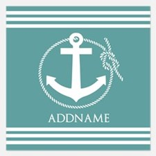 Cadet Blue Rope Anchor Pers Invitations