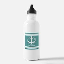 Cadet Blue Rope Anchor Water Bottle