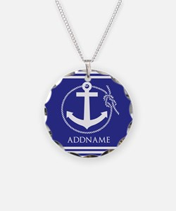 Blue Nautical Rope and Ancho Necklace