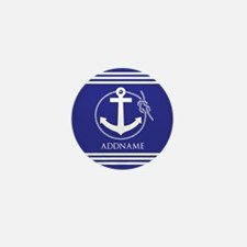 Blue Nautical Rope and Anch Mini Button (100 pack)