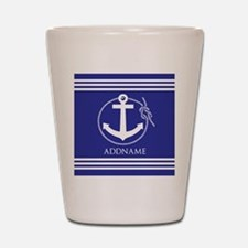 Blue Nautical Rope and Anchor Personali Shot Glass