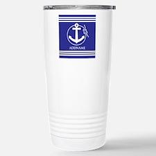 Blue Nautical Rope and Travel Mug