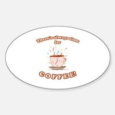 Coffee Time Oval Decal