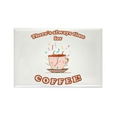Coffee Time Rectangle Magnet