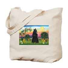 Bright Country & Belgian Shepherd Tote Bag
