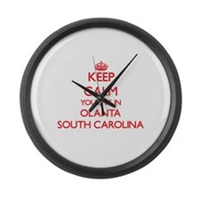 Keep calm you live in Olanta Sout Large Wall Clock